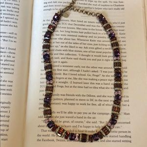 Sorrelli Plum Delight Statement Line Necklace
